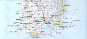 Cartina Geografica Sud Sardegna.Spiagge Sardegna Sud Est E Ovest Le 5 Piu Belle Con Mappa